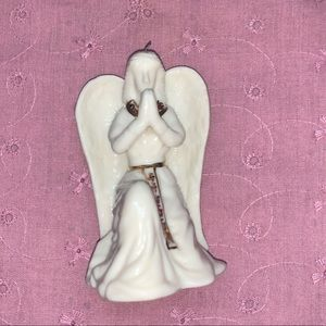 None Holiday - Angel Christmas Tree Ornament, Gold Accents
